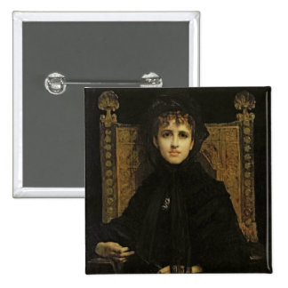 Retrato de señora Georges Bizet 1878 Pin Cuadrada 5 Cm