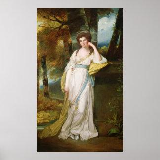 Retrato de señora Henry Maxwell Poster
