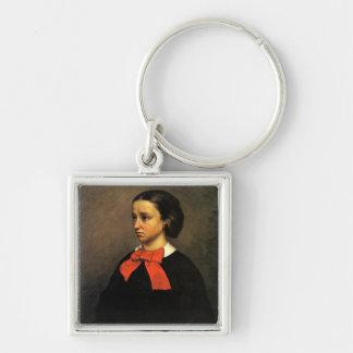 Retrato de señora Jacquet (aceite en lona) Llaveros Personalizados