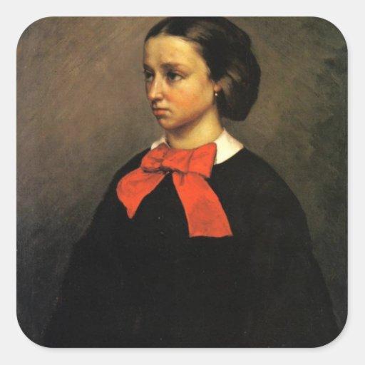Retrato de señora Jacquet (aceite en lona) Colcomanias Cuadradass