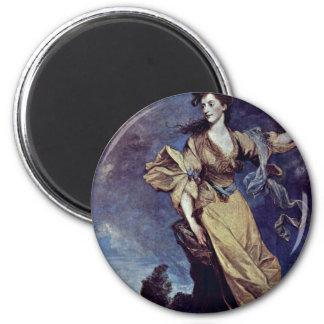 Retrato de señora Jane Halliday By sir Joshua Reyn Imán De Frigorifico