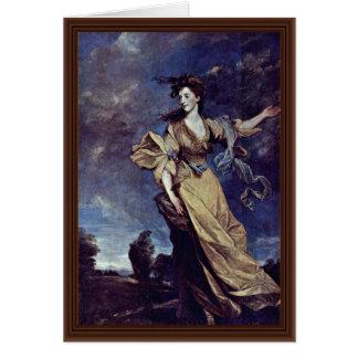Retrato de señora Jane Halliday By sir Joshua Reyn Tarjetón