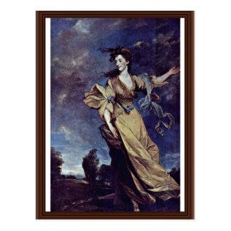 Retrato de señora Jane Halliday By sir Joshua Reyn Postales