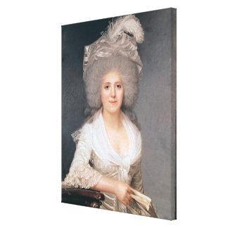 Retrato de señora Jeanne-Louise-Enriqueta Campan Impresión En Lienzo
