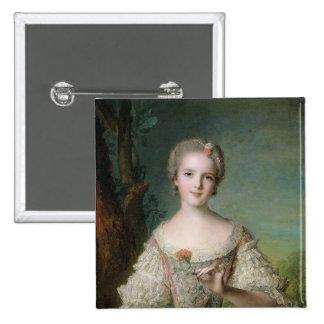Retrato de señora Louise de Francia Pin Cuadrada 5 Cm