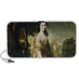 Retrato de señora Lowndes-Piedra c.1775 Altavoz De Viajar