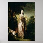 Retrato de señora Lowndes-Piedra c.1775 Posters