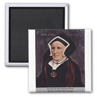 Retrato de señora Margaret Butts Imán Cuadrado
