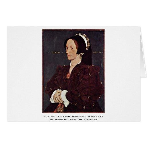 Retrato de señora Margaret Wyatt Lee Felicitación