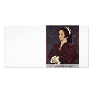 Retrato de señora Margaret Wyatt Lee Tarjeta Personal Con Foto