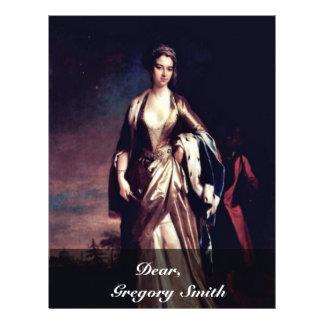 """Retrato de señora Maria Wortley Montagu, por Jonat Folleto 8.5"""" X 11"""""""