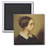 Retrato de señora Ono, 1844 Imán Cuadrado