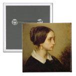 Retrato de señora Ono, 1844 Pin Cuadrado