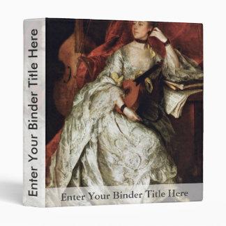 Retrato de señora Philip Thickness By Gainsborough