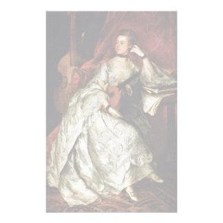 Retrato de señora Philip Thickness By Gainsborough Papelería De Diseño