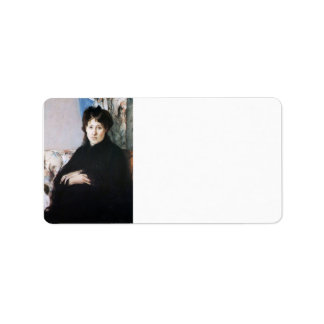 Retrato de señora Pontillon de Berthe Morisot Etiquetas De Dirección