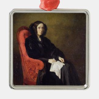 Retrato de señora Poullain-Dumesnil, 1842 Adorno Navideño Cuadrado De Metal