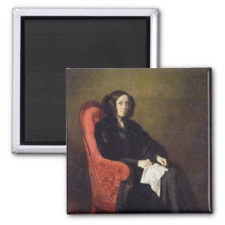 Retrato de señora Poullain-Dumesnil, 1842 Imán Cuadrado