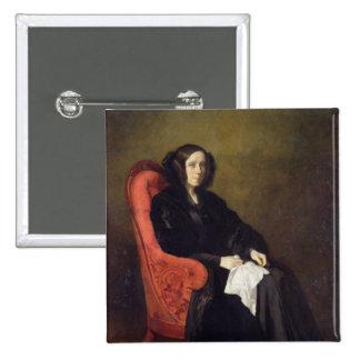 Retrato de señora Poullain-Dumesnil, 1842 Pin Cuadrada 5 Cm