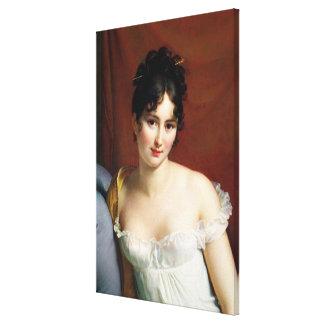 Retrato de señora Recamier Lona Envuelta Para Galerias