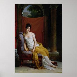 Retrato de señora Recamier Posters