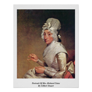 Retrato de señora Richard Yates By Gilbert Estuard Posters