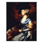 Retrato de señora Sarah Siddons de Gainsborough Th Tarjeton