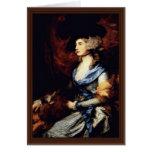 Retrato de señora Sarah Siddons de Gainsborough Th Felicitación