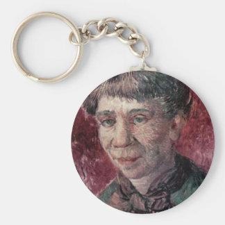 Retrato de señora Tanguy de Vincent van Gogh Llavero Redondo Tipo Pin