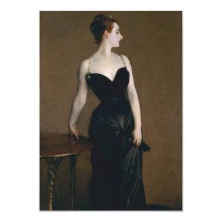 """Retrato de señora X de John Singer Sargent, 1884 Invitación 5"""" X 7"""""""