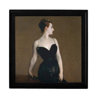 Retrato de señora X de John Singer Sargent, 1884 Joyero Cuadrado Grande