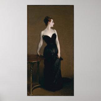 Retrato de señora X de John Singer Sargent, 1884 Poster