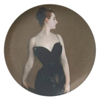 Retrato de señora X de John Singer Sargent, 1884 Plato De Comida