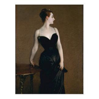 Retrato de señora X de John Singer Sargent, 1884 Tarjeta Postal