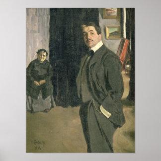 Retrato de Sergei Pavlovich Diaghilev Poster