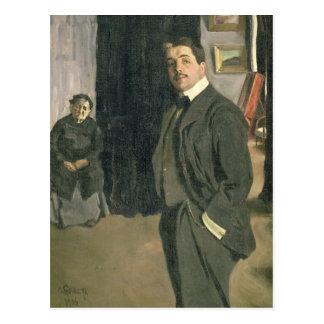 Retrato de Sergei Pavlovich Diaghilev Tarjeta Postal