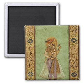 Retrato de Shah Jahan, 1631, Mughal Imán Cuadrado