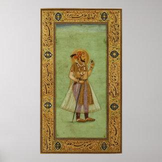 Retrato de Shah Jahan, 1631, Mughal Impresiones