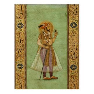 Retrato de Shah Jahan, 1631, Mughal Tarjetas Postales