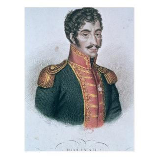 Retrato de Simon Bolivar Tarjeta Postal