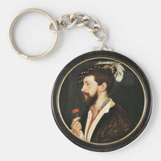 Retrato de Simon George de Cornualles Tondo Llavero Redondo Tipo Pin