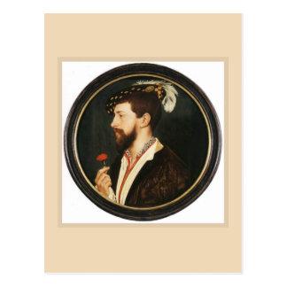 Retrato de Simon George de Hans Holbein más joven Tarjetas Postales