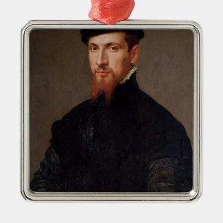 Retrato de Simon Renard 1553 Adorno Cuadrado Plateado