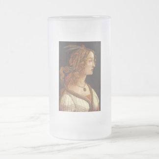 Retrato de Simonetta joven Vespucci Taza De Cristal