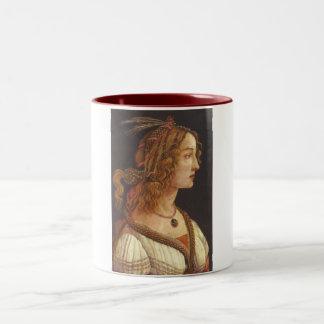 Retrato de Simonetta joven Vespucci Taza De Dos Tonos