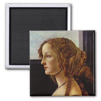 Retrato de Simonetta Vespucci por Botticelli Iman De Frigorífico
