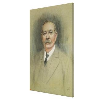 Retrato de sir Arthur Conan Doyle Impresiones En Lienzo Estiradas