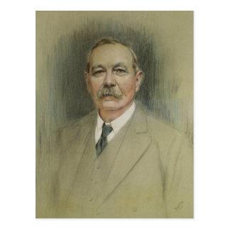 Retrato de sir Arthur Conan Doyle Postal