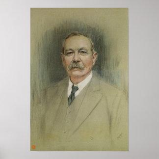 Retrato de sir Arthur Conan Doyle Póster