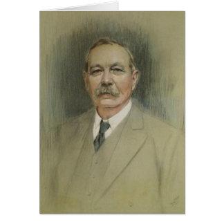 Retrato de sir Arthur Conan Doyle Tarjeta De Felicitación